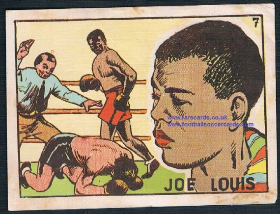1941 Bruguera boxer Joe Louis large plain back Spanish sticker